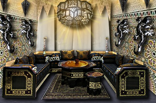 carrelage sol salon marocain. Black Bedroom Furniture Sets. Home Design Ideas