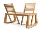 banc, banc double view, bois, chloe de la chaise, conversation, décoration, design, mobilier