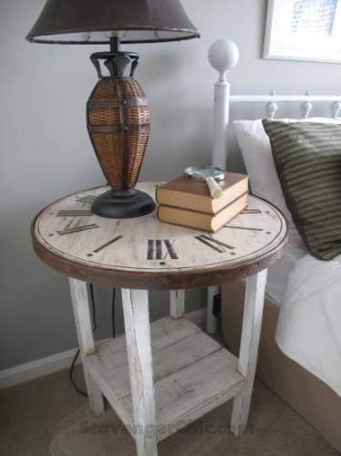 décoration, DIY, horloge, table de chevet