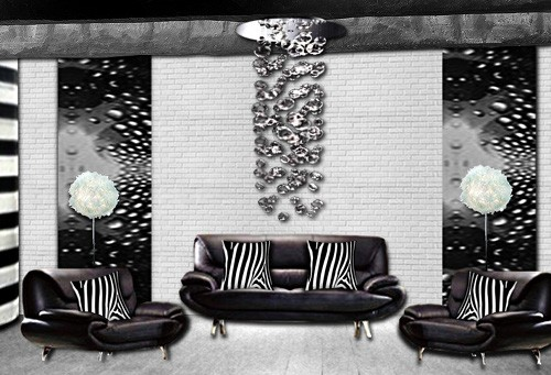 Papier peint decoratif salon design accueil design et for Salon papier peint